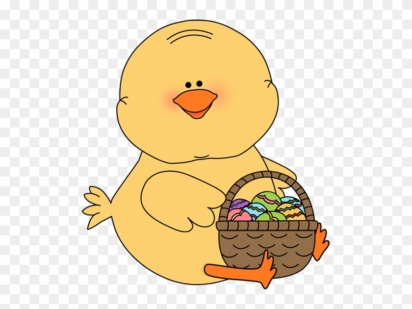 Chick With An Easter Basket - Easter Chick With Basket #16406