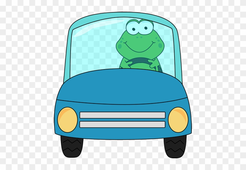 Frog Driving A Car - Frog In A Car Clipart #16430