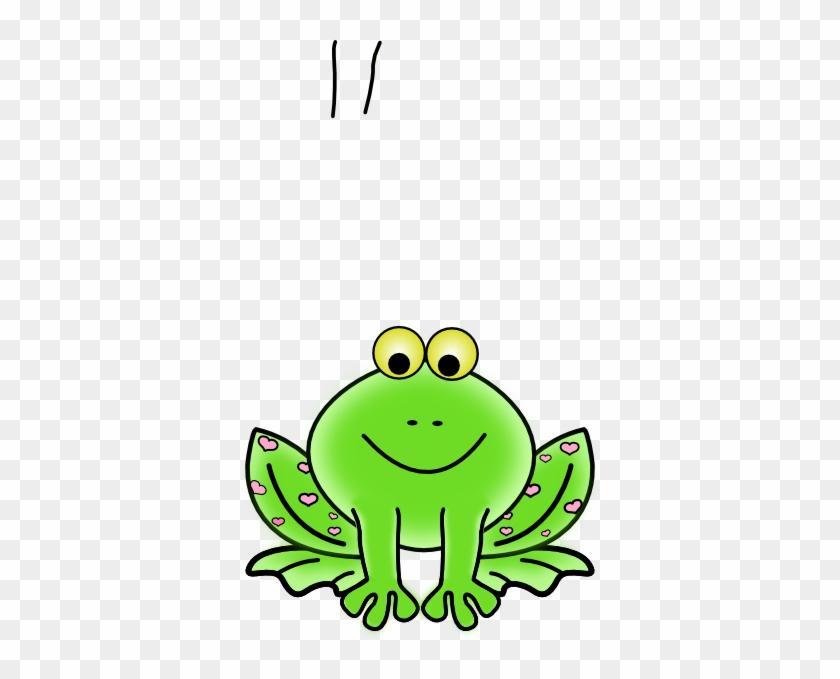 Frog Pink Hearts Clip Art At Clker - Frog Clipart Transparent #16473