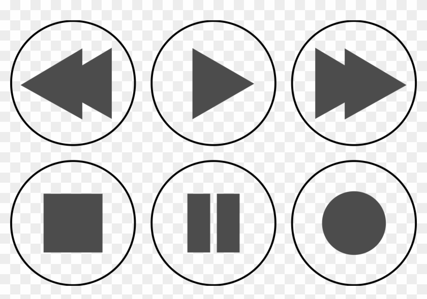 Big Image - Media Player Buttons Png #16495