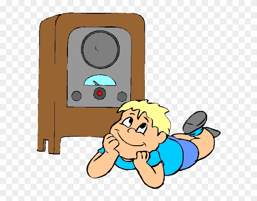 Herd Clipart Listener - Cartoon Boy Listening To Radio #16569
