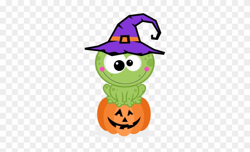Halloween Frog Clipart - 1. Kleiner Hexe-frosch Halloweens 8 Papierteller #16665