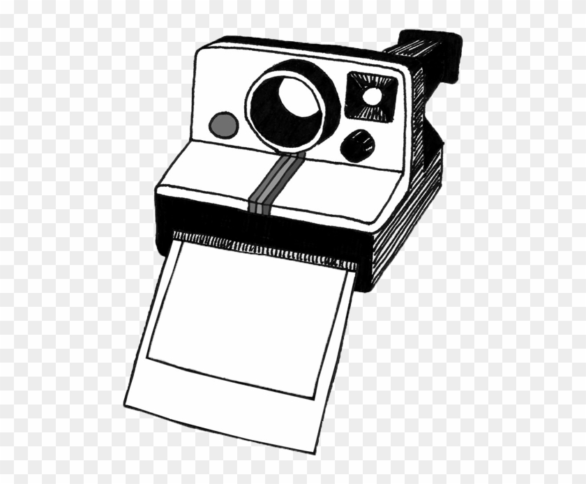 Polaroid Camera Clipart Black And White - Polaroid Clipart #16667