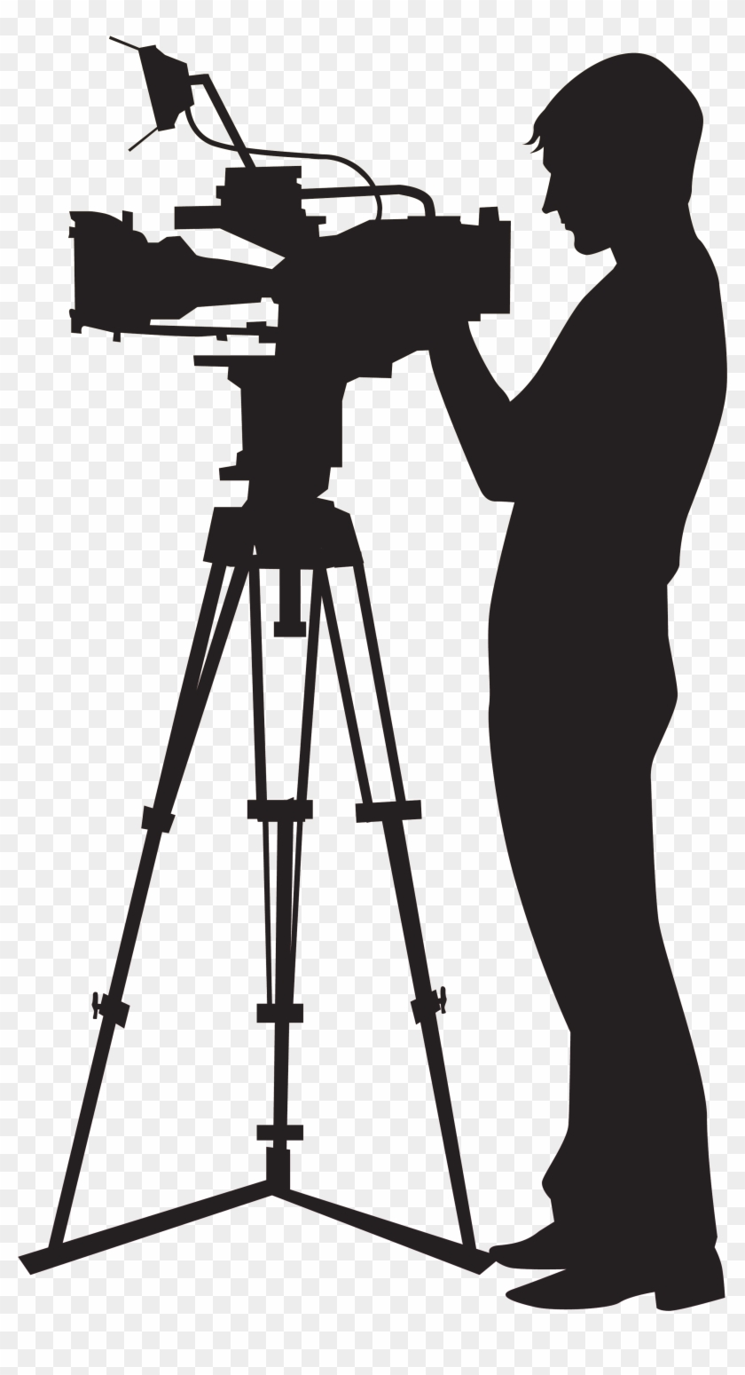 Camera Operator Video Camera Clip Art - Video Shooting Camera #16685
