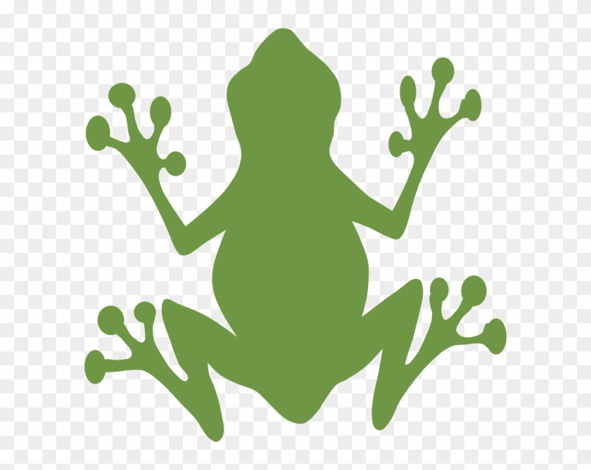Green Frog Clip Art At Clker - Green Frog Silhouette #16680