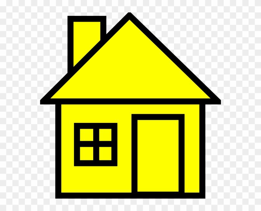 Yellow House Clipart - Yellow House Clipart #16682