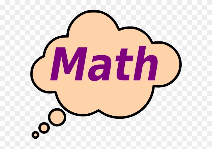 Math Worksheets Clip Art - Thought Bubble Clip Art #16751