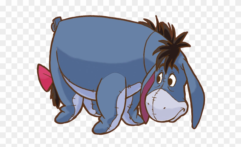Eeyore Clipart - Room Mates Winnie The Pooh Eeyore Giant Wall Decal #16760