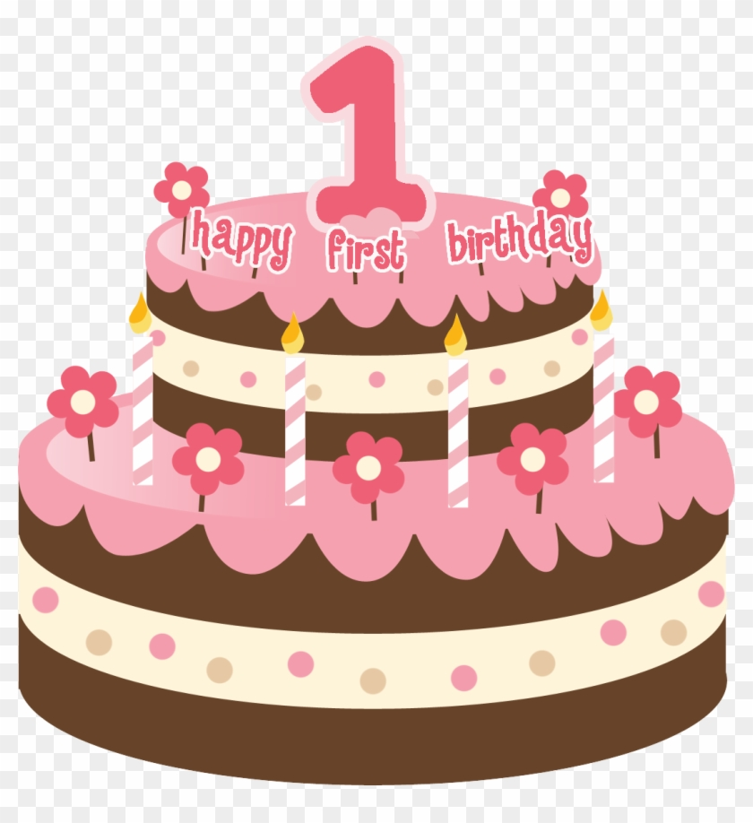 Birthday - Cake - Clip - Art - Png - First Birthday Cake With Name #16794