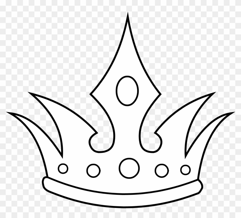 King Crown Clip Art Black And White - Crown Line Art #16791