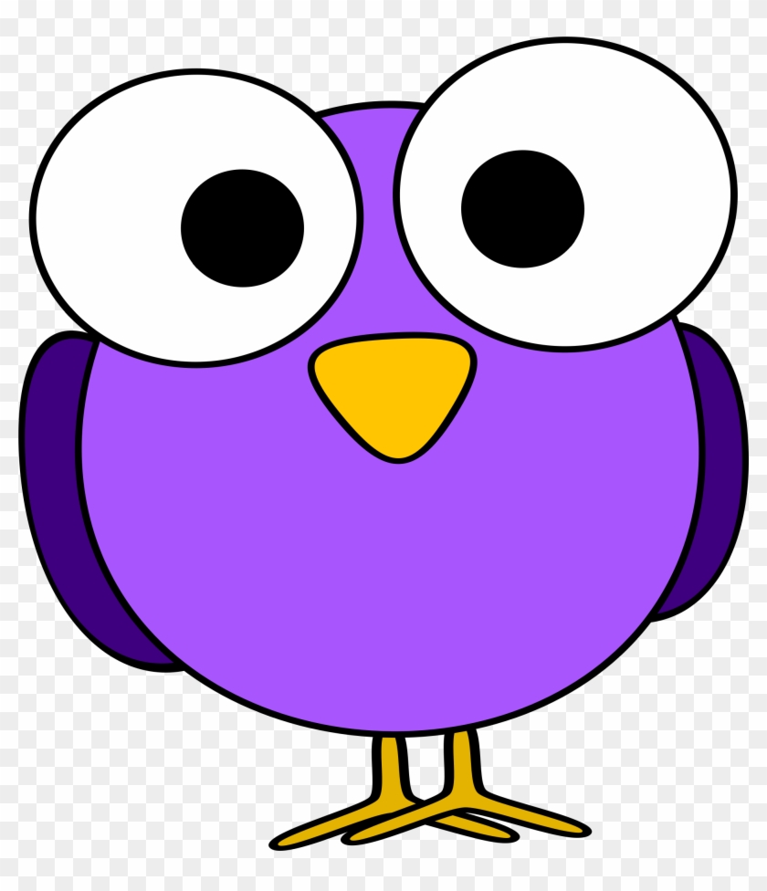 Chick Clipart Purple - Cartoon With Big Eyes #16796