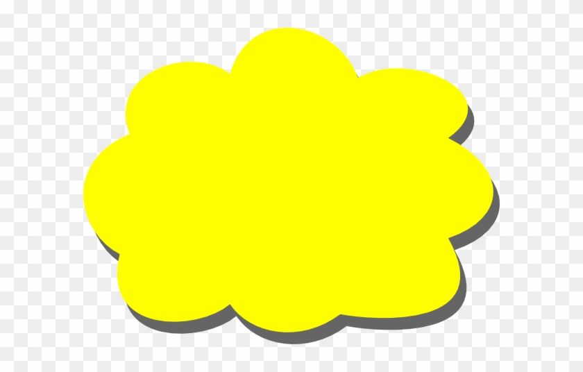 Yellow Cloud Clipart #16838