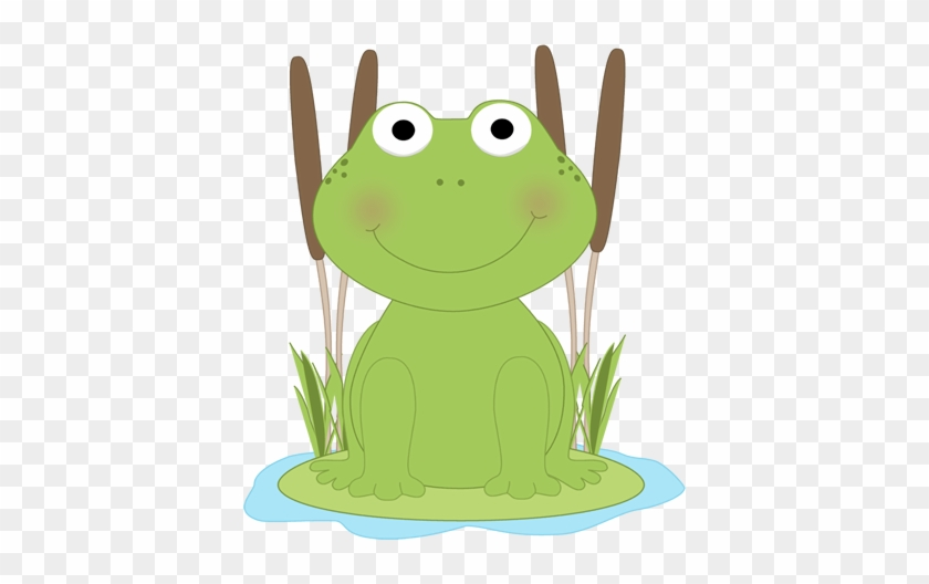 Frog In A Pond Clip Art Frog In A Pond Image - Clipart Frog On Lily Pad #16847