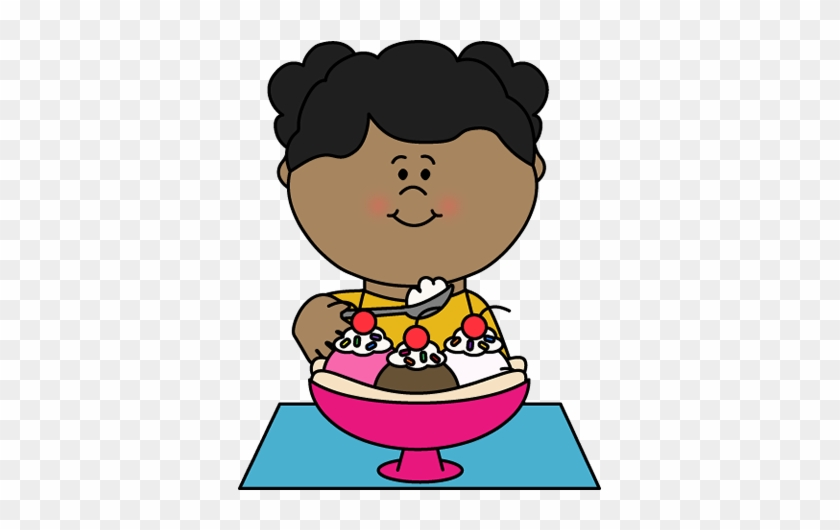 Awesome Girl Eating Ice Cream Clipart Ice Cream Clip - Eating Ice Cream Clipart #16903