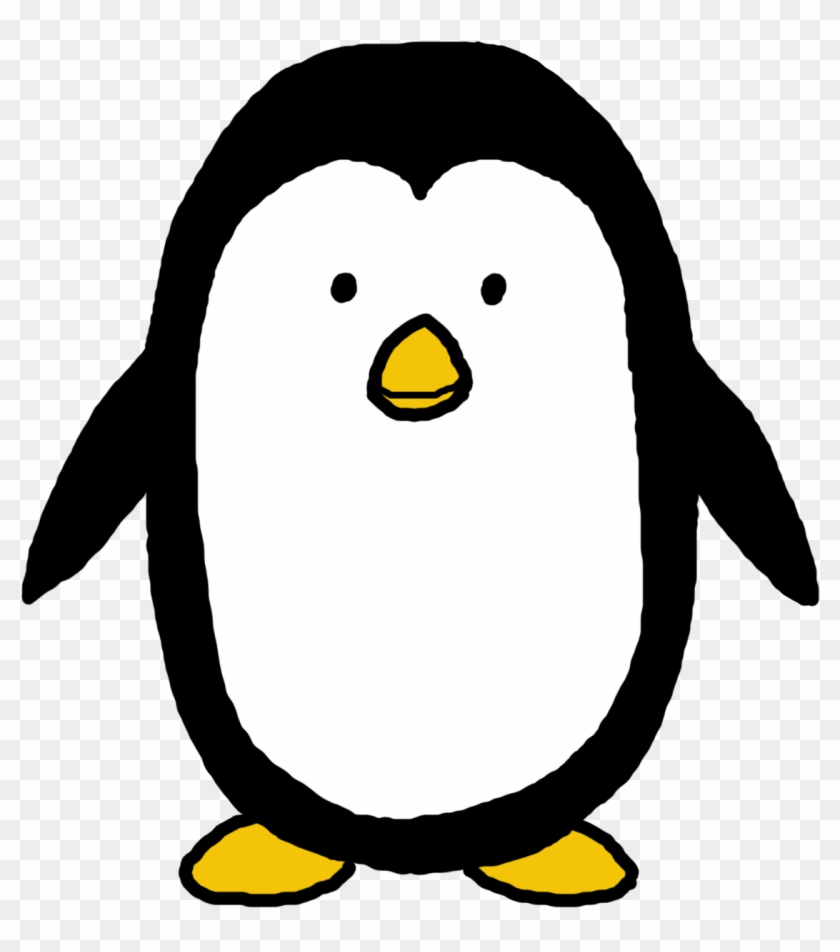 King Penguin Clipart Cartoon Penguin - Easy Cartoon Penguin #16930