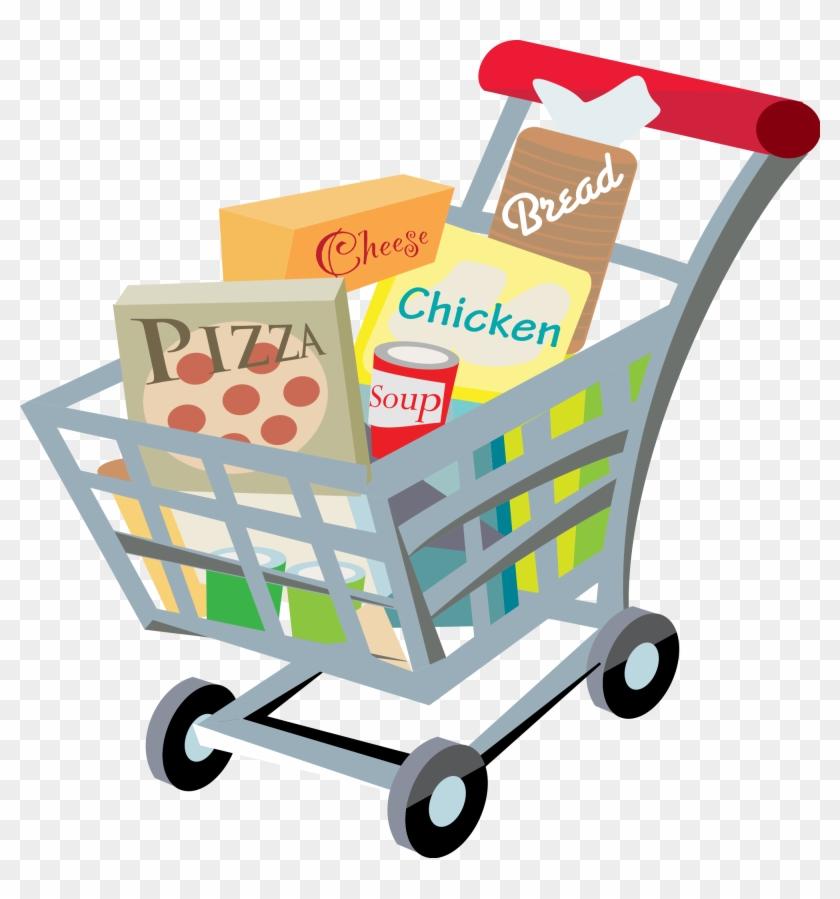 Clip Art Shopping Tumundografico - Grocery Shopping Cart Clipart #16942