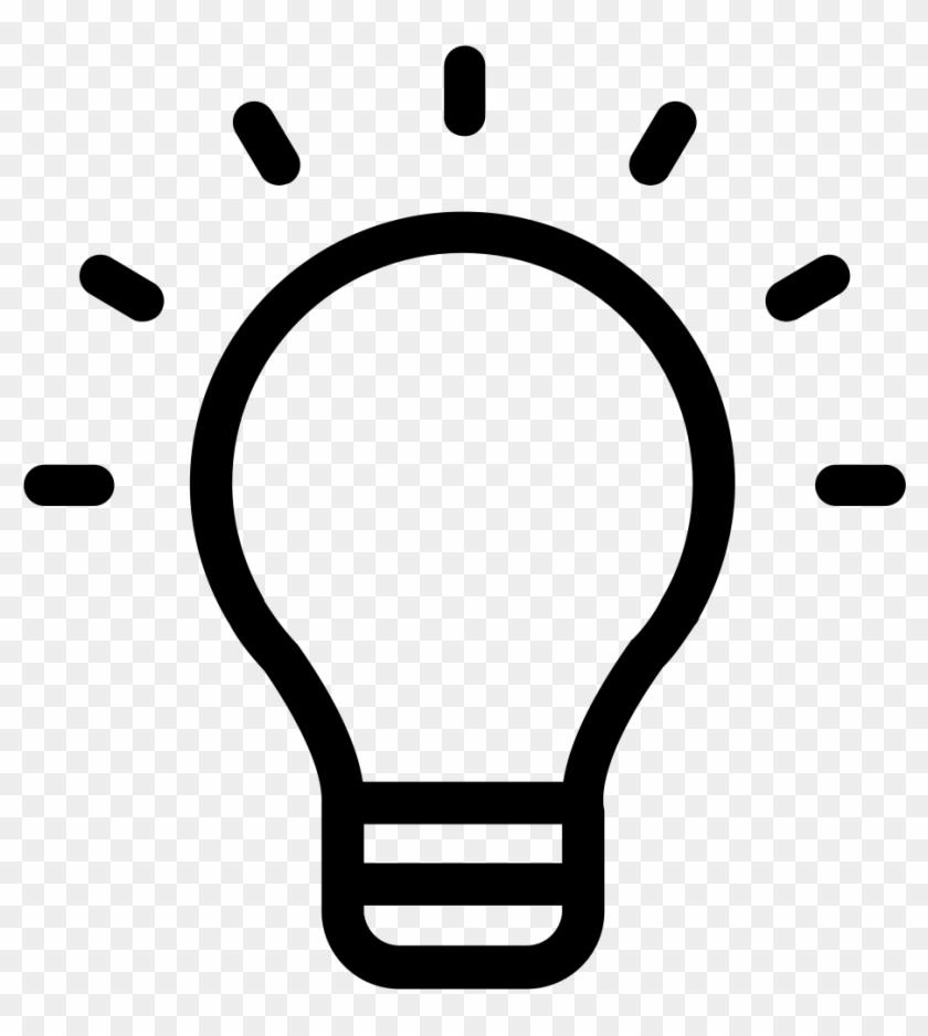 Picturesque Design Ideas Light Bulb Black And White - Definir En El Design Thinking #16949