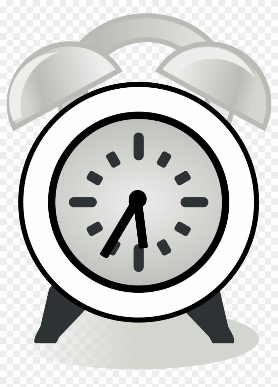 Clock - Clipart - Black - And - White - Alarm Clock #16964