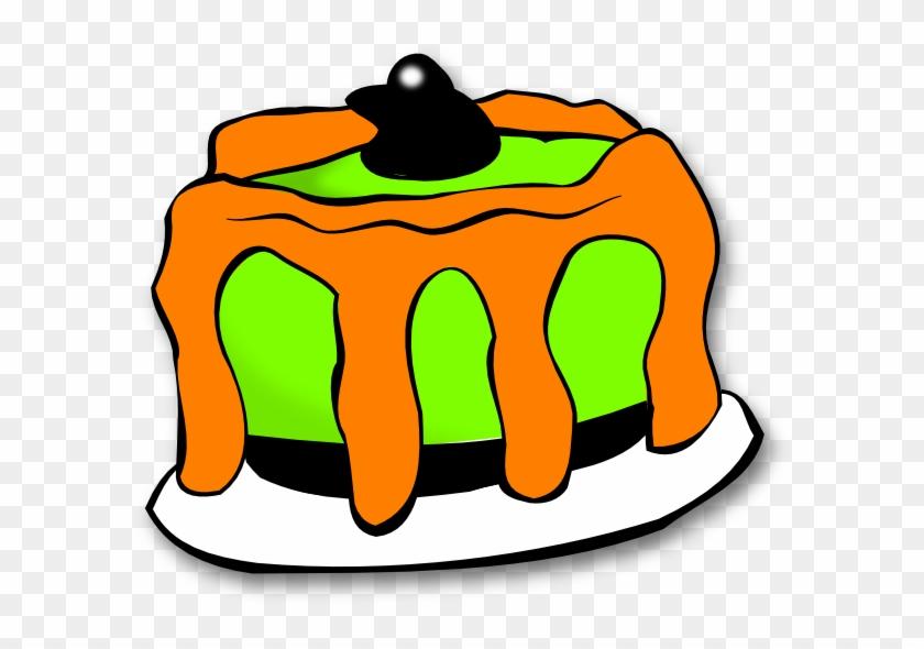 Halloween Birthday Cliparts - Halloween Cake Clip Art #16994