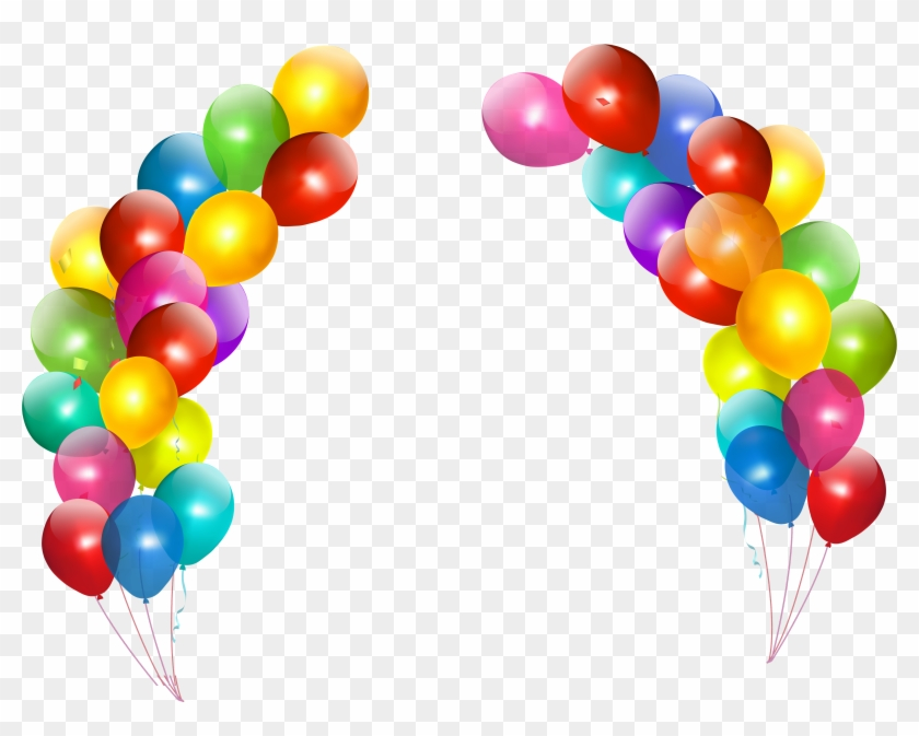 Arch Clipart Real Balloon - Happy Birthday Balloons Png #17018