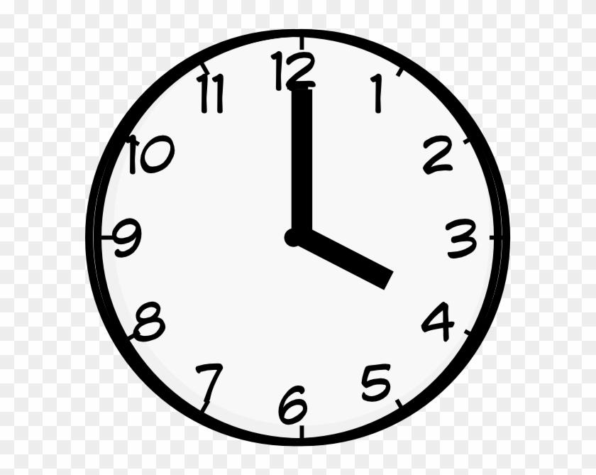 4 O Clock Clip Art - Clock Face Clip Art #17003