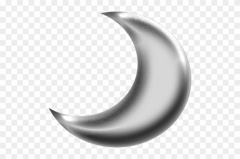 Moon - Clipart - Silver Crescent Moon Png #17009
