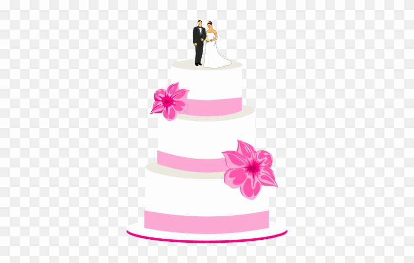 Wedding Cake Clipart - Pink Wedding Cake Clip Art #17027