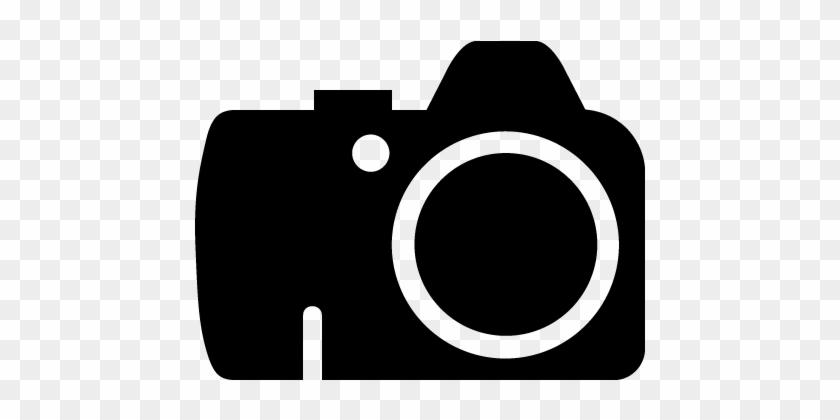 Dslr Camera Clipart - Dslr Camera Vector Icon #17045