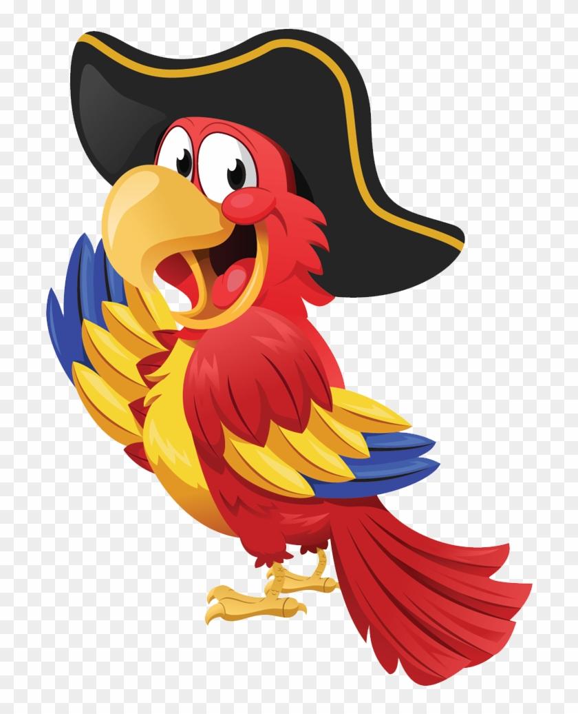 Download Parrot Png Transparent Images Transparent - Transparent Background Pirate Parrot Clipart #17144