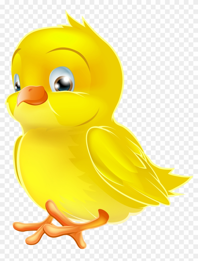 Painted Yellow Easter Chick Png Clipart Picture - Duck #17166