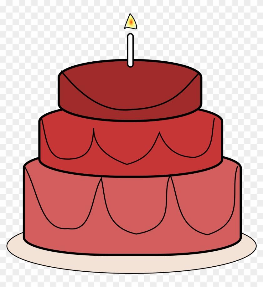 Red Birthday Cake Clipart Clipartxtras - Birthday Cake #17170