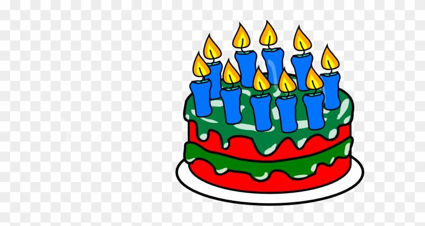 Red Birthday Cake Clip Art #17209