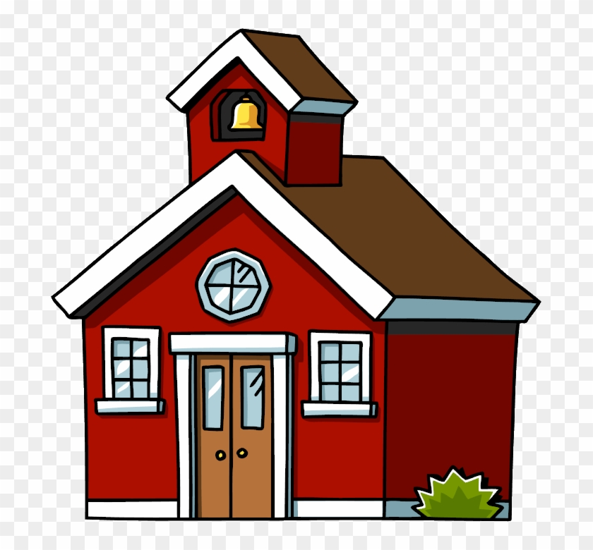 School House Clip Art House The Cliparts - School House Cartoon Png #17265
