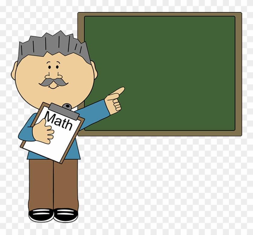 Man Math Teacher Clip Art - Male Teacher Teaching Clipart #17280