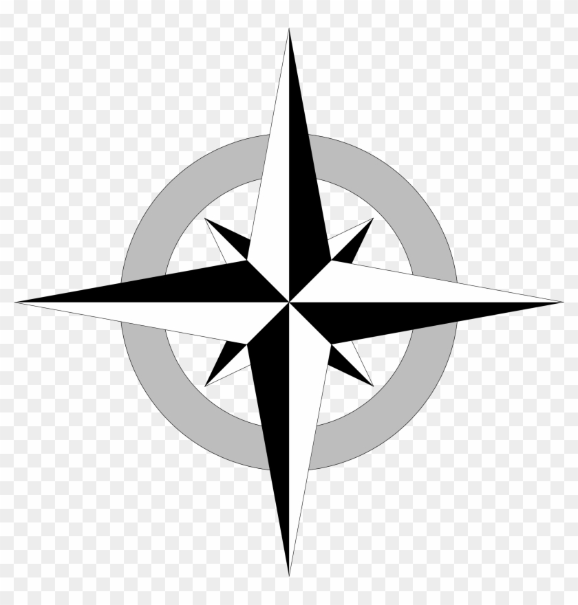 Clipart - Simple Compass Rose Vector #17283