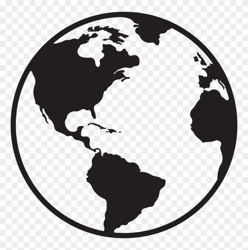 Globe Clipart Black And White Best Globe Black And - Black And White Globe Clipart #17389