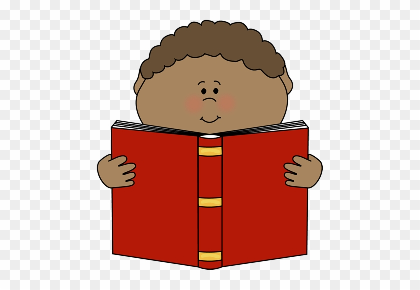 Little Boy Reading A Book Clip Art - Read Book Clipart #17399