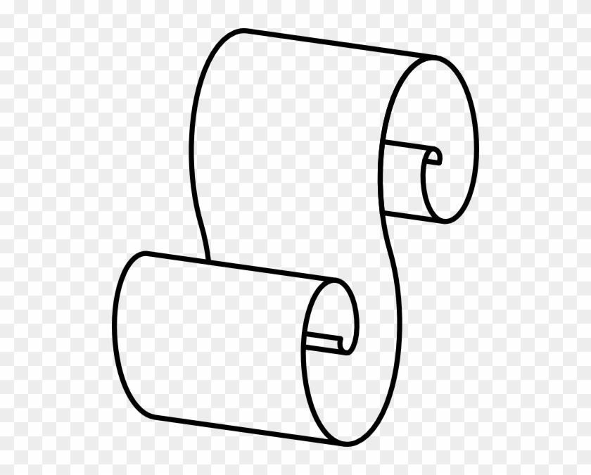 Scroll Outline Clip Art - Paper Scroll Clip Art #17461