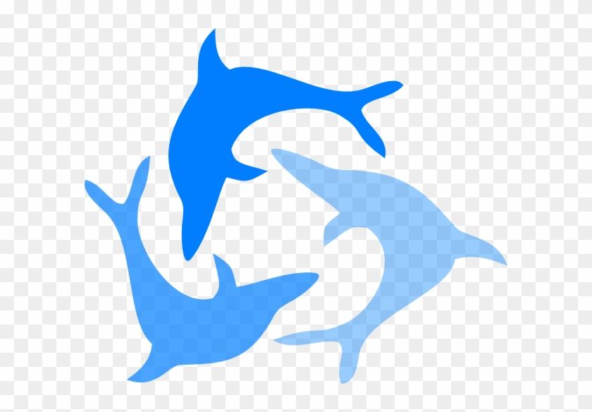Light Blue Dolphin Svg Clip Arts 600 X 504 Px - Dolphin Clip Art #17506