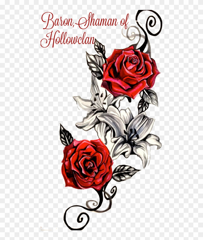 Rose Tattoo Png Clipart - Rose Tattoo Designs #17573