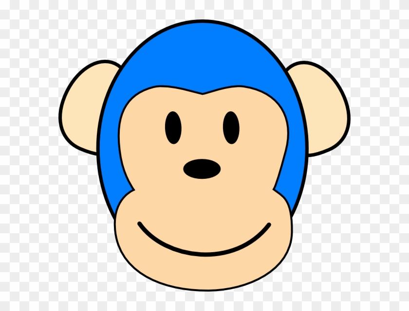 Blue Monkey Cartoon Character #17601