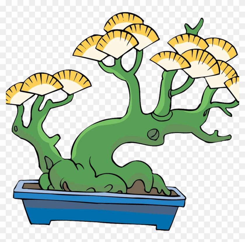Tree Bonsai Flowerpot Clip Art - Tree Bonsai Flowerpot Clip Art #17967