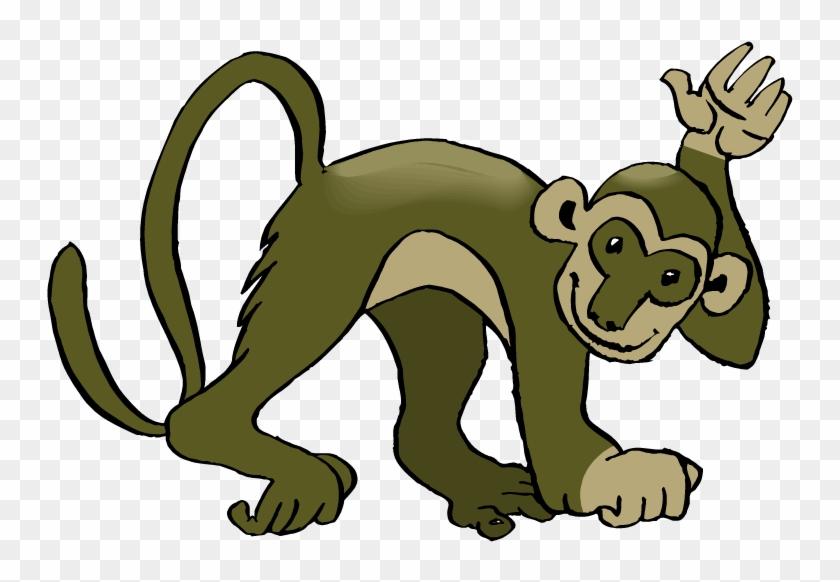 Monkey Clipart - Cute Spider Monkey Clipart #17687