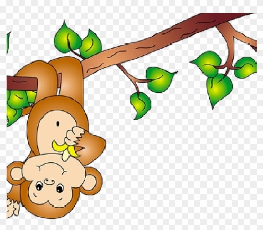 Cute Monkey Clipart Cute Ba Monkey Clipart Clipart - Monkey On Tree Clipart #17717