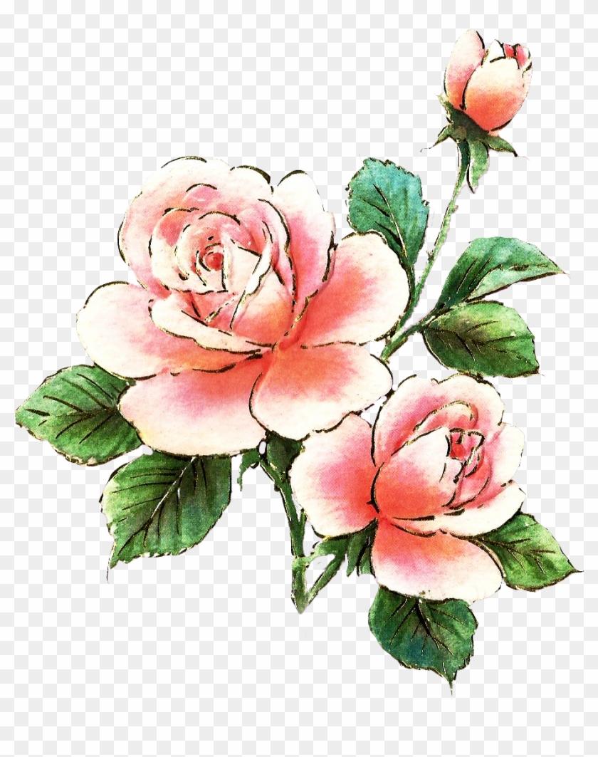 Pink Rose Clipart Dozen Rose - Pink Roses Clip Art Free #17750