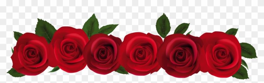 Rose Clip Art Border 9tpbdbj8c - Red Rose In Png #17753
