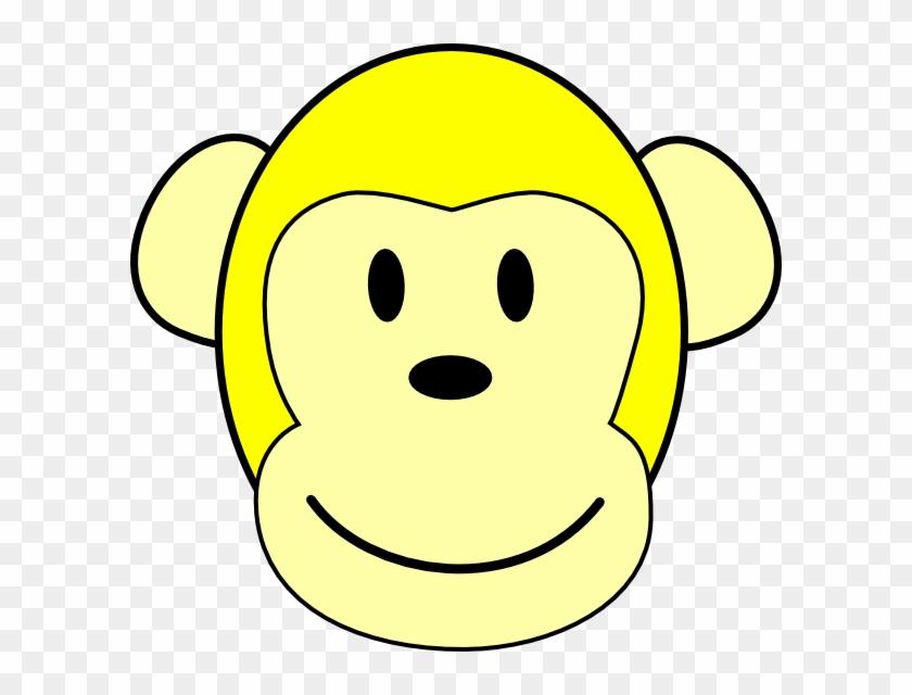 Yellow Monkey Clip Art - Clip Art #17758