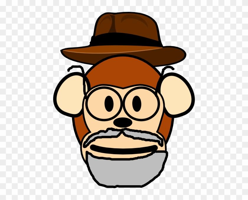 Grandpa Monkey Clip Art - Grandpa Monkey #17768