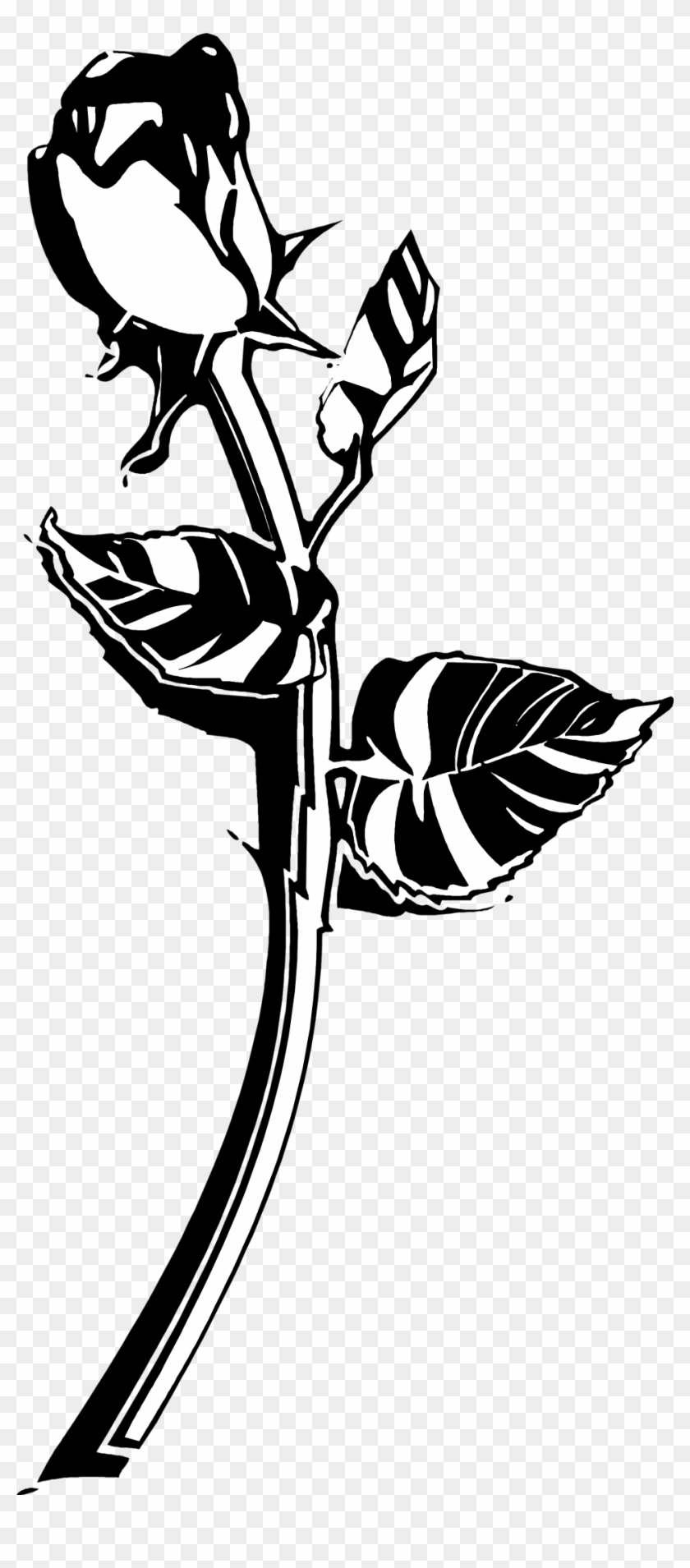 Roses Black And White Clip Art