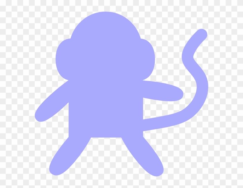 Baby Blue Monkey Clip Art - Monkey Clip Art #17778